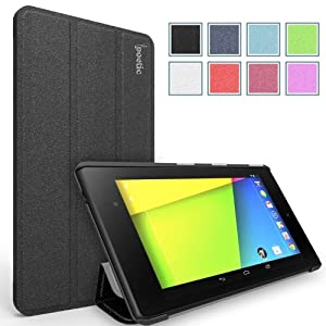 Poetic Slimline Case for Google Nexus 7 2nd Gen 2013 Android Tablet Black (With Auto Wake / Sleep Function) (3 Year Manufacturer Warranty From Poetic)