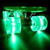 "Sunset ""Alien"" Complete Skateboard / Green Deck & Green LED Wheels"