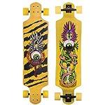 "SANTA CRUZ LONGBOARD Flying Eye DROP DOWN Skateboard CRUZER 10"" X 40"""