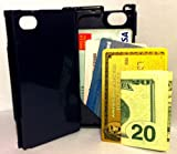iFunner, iPhone 4 4s Case,Hard Plastic Durable ID Credit Card Slim Wallet, Holds 4, AT&T Verizon SprintDark Blue