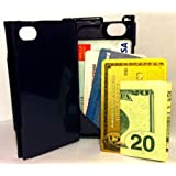 iFunner, iPhone 4 4s Case,Hard Plastic Durable ID Credit Card Slim Wallet, Holds 4, AT&T Verizon SprintDark Blue ~ iFunner