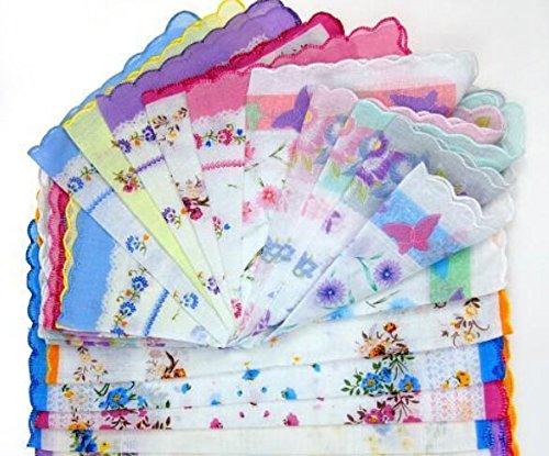 Uniquezone Vintage Floral Handkerchief Wendding Party Fabric Hanky 3
