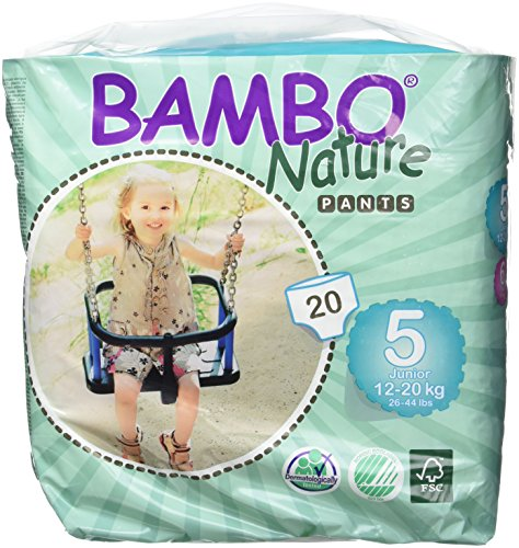 Bambo Nature Premium Baby Diapers, Training Pant , Size 5, 20 Count (Chlorine Free Diapers 5 compare prices)