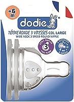 Dodie  Tétine Evolution + 3 Vitesses - Transparent - Débit 1, 2, 3 ou 4