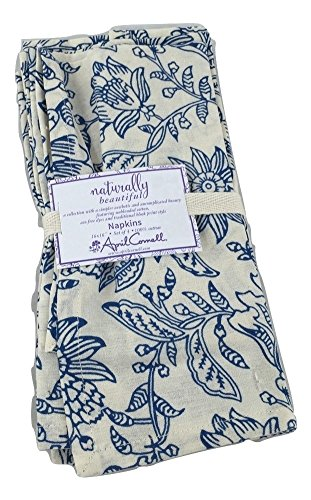 April Cornell Blue and White Napkins, Set of 4