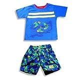Plaid Fish - Infant Boys 2 Piece Swim Set, Blue, Multi (Size 24Months)