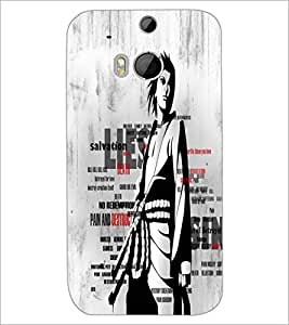 HTC ONE M8 S TYPOGRAPHY Designer Back Cover Case By PRINTSWAG