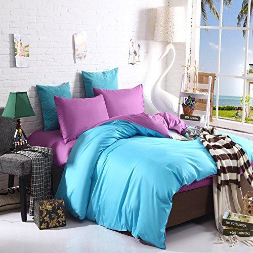 4Pc Bed Sheet Set - Queen Cotton Denim Bedding