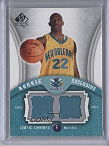 Cedric Simmons #22 25 New Orleans Hornets (Basketball Card) 2006-07 SP Authentic... by SP+Authentic
