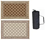 Reversible Mat Brown & Beige Patio Mat (9' x 12')