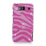 Eagle Cell PDMOTMAXXHDS302 RingBling Brilliant Diamond Case for Motorola Droid RAZR MAXX HD - Retail Packaging - Hot Pink Zebra