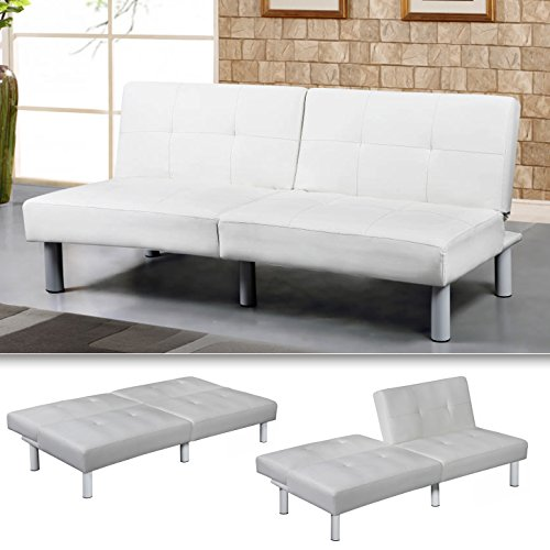 MILA Sofa in weiss mit Bettfunktion thumbnail