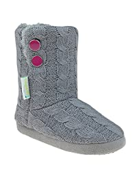 Capelli New York Cable Knit Girls Indoor Slipper Boot