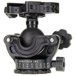 Acratech GP-s Ballhead with Gimbal Feature, with all Rubber Knobs, Quick Release / Detent Pin and Level, Supports 25 lbs.