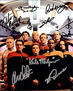 Star Trek Voyager Cast Signed Autographed Movie 8 X 10 RP Photo - (Mint Condition)