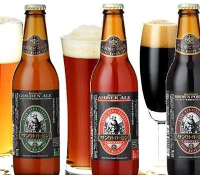 金賞地ビール 3種 330ml×3本 飲み比べセット (金・琥珀・黒色ビール各1本)