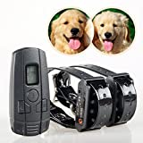 Aetertek At-211sw Small Dog Shock Collar Water-resistant Dog Trainer Rechargeable 2 Dog Cat Training Shock Vibrate Anti Bark Collar