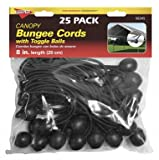 Keeper 6345 8 Canopy Bungee Cord, 25 Pieces