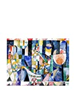FOOL COLORS by MANIFATTURE COTONIERE Cubresofá Wonderland Azul/Multicolor 100 x 85 cm