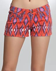 Icon Ikat Print Denim Short