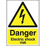 Danger Electrical Shock Risk Sign 210 x 148mm
