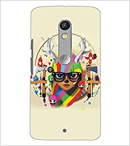 PrintDhaba Abstract Image D-5181 Back Case Cover for MOTOROLA MOTO X PLAY (Multi-Coloured)