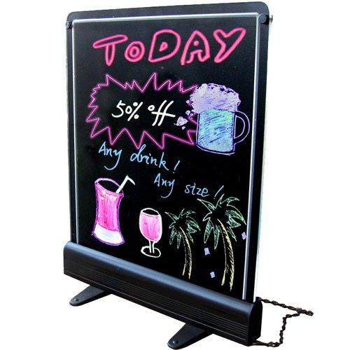 Frameless Chalkboard Business Sign - Indoor Electronic Neon Sign & Display For Restaurants