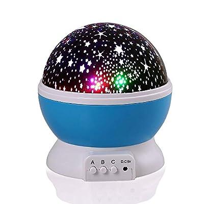 Novelty 360 Rotating Moon Star Night Light Projector Lamp