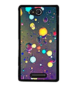 Light and Bubbles 2D Hard Polycarbonate Designer Back Case Cover for Sony Xperia C :: Sony Xperia C HSPA+ C2305