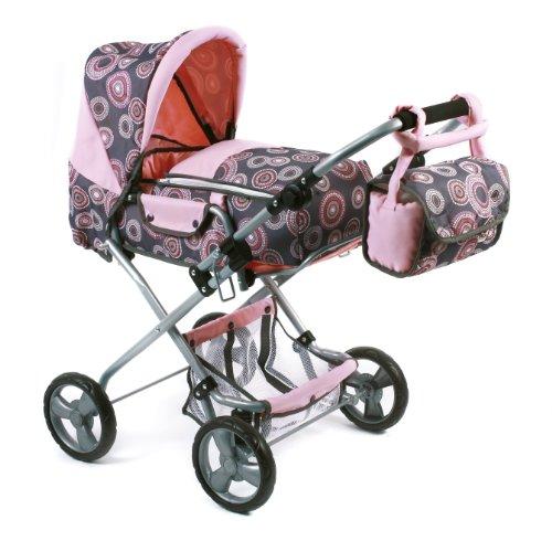 Bayer Chic 2000 586T86 - Kombi-Puppenwagen Bambina, rosy pearls