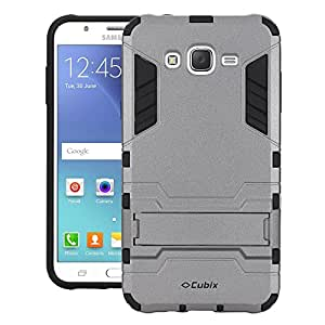 Galaxy J5 Case, Case Cover UV Coated Case Cover With Stand for Samsung Galaxy J5 (Grey)