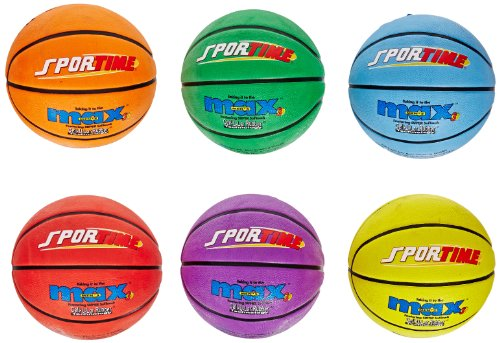 SportimeMax Basketballs - Men's Size, 29 1/2 inch- Set of 6 Colors Sportime Basketballs autotags B0042SUSWQ