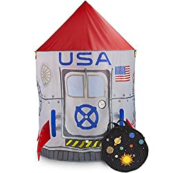 Space Adventure Roarin Rocket Play Tent with Milky Way Storage Bag by Imagination Generation
