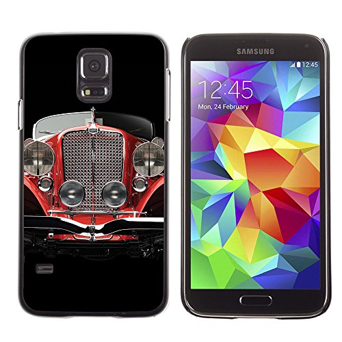 Eason Shop / Hard Slim Snap-On Case Cover Shell - Oldschool Classic Car - For Samsung Galaxy S5 (Galaxy S5 Old School Cars Case compare prices)