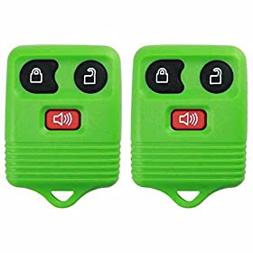 2 KeylessOption Green Replacement 3 Button Keyless Entry Remote Control Key Fob Clicker