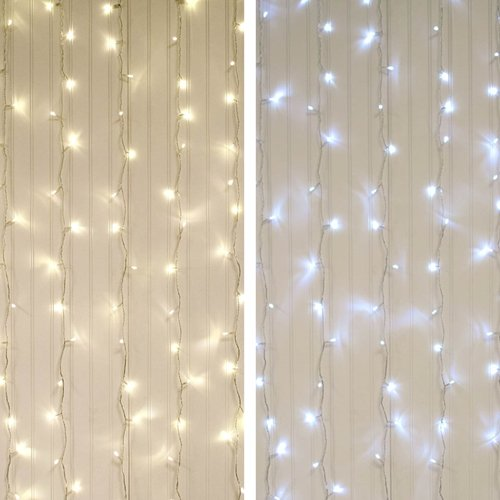 2 Pack Curtain Lights Leds 5 Ft X 7 Ft Clear Wire