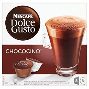Nescafé Dolce Gusto Chococino 16 Capsules, 8 servings (Pack of 3, Total 48 Capsules/hot drinking  chocolate pods, 24 servings)