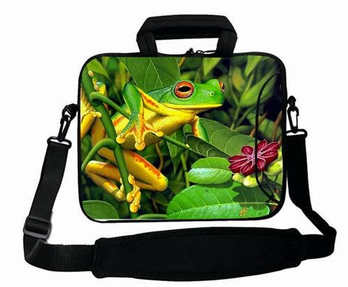 "Fashionable Designed ( Animals frog leavesS shrubs ) Laptop Bag For Women (10 Inch) For 9.7""iPad Air 2-iPad 1 2 3 4 5-Samsung Galaxy Tab 3 S T700-Note 10.1-Tab PRO-Google Nexus 10 - CB-10-12481"
