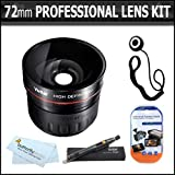 72mm Professional Lens Kit Includes 2.2x HD Telephoto Lens + Lens Pen Kit + Screen Protectors + Lens Cap Keeper + Microfiber cloth + More For Canon XL-H1s, XL-H1a, XH-G1s, XH-A1s, XL2, XL1 High Definition Professional Camcorder ~ ButterflyPhoto