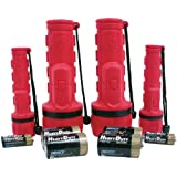 Dorcy 41-3982 Rubber Flashlight Combo with Batteries, 4-Pack, Colors may vary