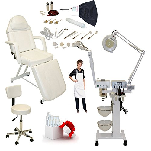 LCL Beauty 9 in 1 Multifunction Facial Machine & Fully Adjustable Bed Chair Package (Skincare Equipment Packages compare prices)