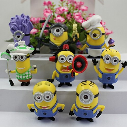 1 X Despicable Me 2 The Minions One Eyed Purple Minion Role Figure Display Toys SET - 1