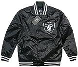 (マジェスティック)MAJESTIC NFL オークランド レイダース ナイロンサテン スタジャン OLR0017 L BLACK(ブラック)