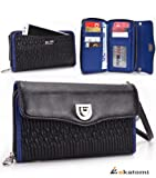 BLUE & BLACK | HTC Rezound Mobile Phone Case with Cash & Card Holder |... learn more