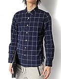 (リピード) REPIDO シャツ メンズ リネンシャツ 麻シャツ カジュアルシャツ 長袖シャツ 総柄シャツ ストレッチシャツ ストレッチ フレンチリネンシャツ ウィンドペン L
