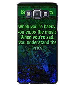 Fuson 2D Printed Quotes Designer back case cover for SAMSUNG GALAXY A5 A500F - D4534