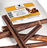 Bully and Bullies Sticks for Dogs - Best USA Made, All Natural, Dog Friendly Odor and Smell, 6 Inch Beef Pizzle Only On Amazon - Healthy Dog Treats - Gentle On Sensitive Stomachs