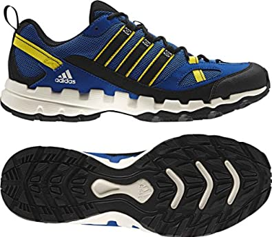 adidas Outdoor AX1 Hiking Shoe - Men's Blue Beauty/Black/Vivid Yellow 6.5