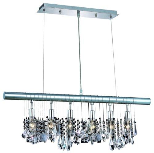 Elegant lighting 3100d30c rc chorus line 12 inch high 6 for 12 inch high table