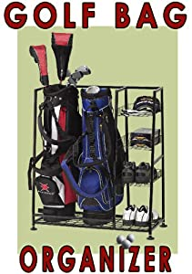 Deluxe Golf BAG Organizer- Golf Bag and Equipment Organizer- Rack shelves- Keep Your... by Quality Golf Equipment